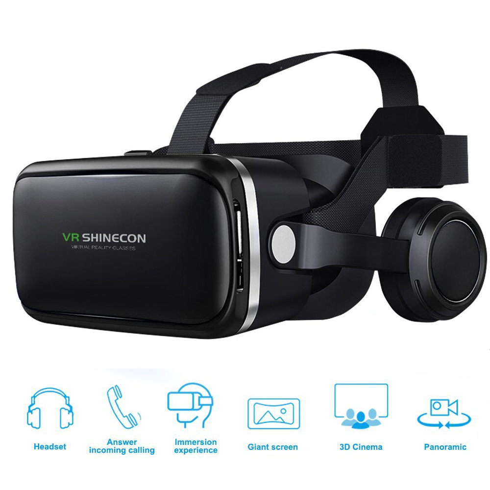 Anskp VR Stereo Headset Virtual Reality Helmet Smartphone 3D Glasses Mobile Headphone Bluetooth Wireless Gamepad Smart Glass