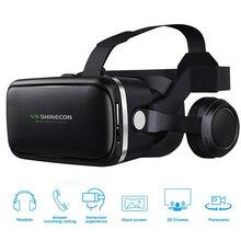 VR Anskp Helmet Smartphone de Realidade Virtual Óculos 3D Móvel Fone De Ouvido fone de Ouvido Estéreo Bluetooth Sem Fio Gamepad Inteligente Vidro