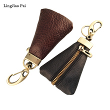 LingJiao Pai New Arrival Genuine Leather Key Holder Unisex Key Wallet 2 Colors Key Organizer Key Holder Car Housekeeper Wallet