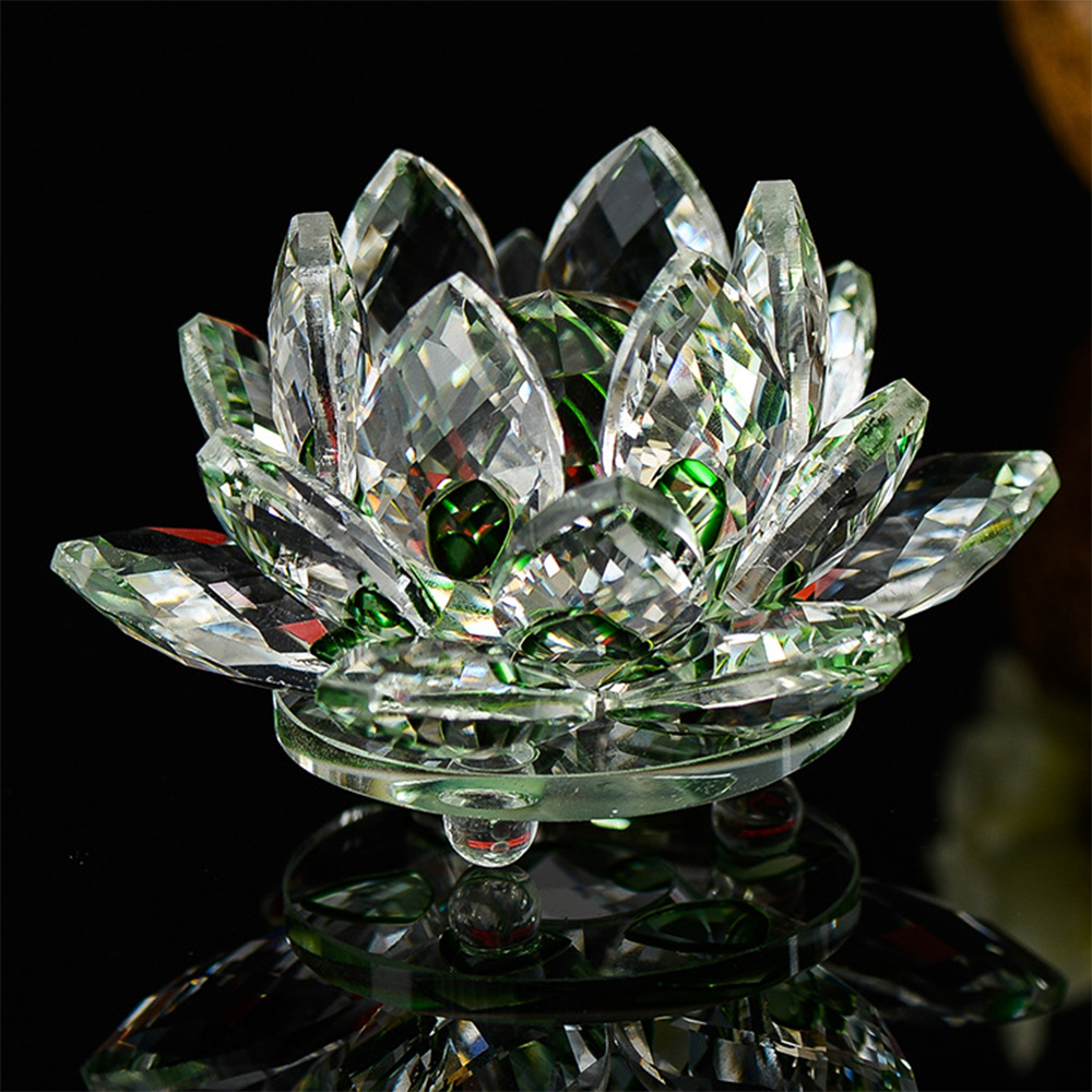 140mm 1pcs Green Color Crystal Glass Lotus Flower Natural Stones Feng shui Crystal flowers For wedding souvenirs140mm 1pcs Green Color Crystal Glass Lotus Flower Natural Stones Feng shui Crystal flowers For wedding souvenirs