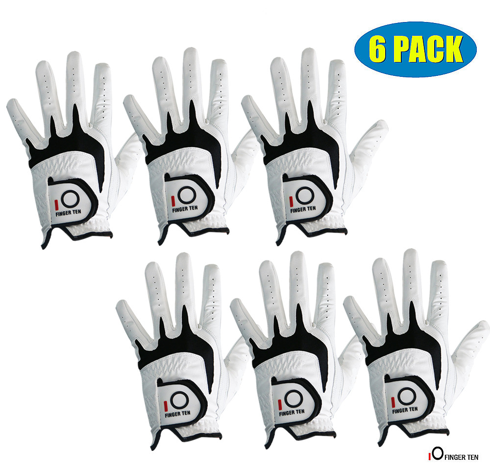 Mens Golf Gloves All Weather Grip Value 6 Pack Left Hand Right Handed Lh Durable Fit Size Small Medium ML Large XL Finger TenMens Golf Gloves All Weather Grip Value 6 Pack Left Hand Right Handed Lh Durable Fit Size Small Medium ML Large XL Finger Ten
