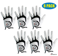 Men's Golf Gloves All Weather Grip Value 6 Pack Left Hand Right Handed Lh Durable Fit Size Small Medium ML Large XL Finger Ten