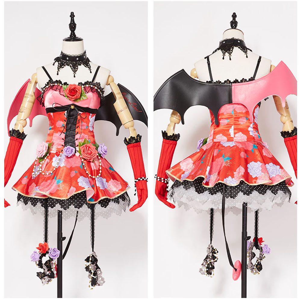 Love Live Cosplay New SR Kotori Minami Little Demon Transformed Uniform Halloween Cosplay Costume Party Dress For Girl Women