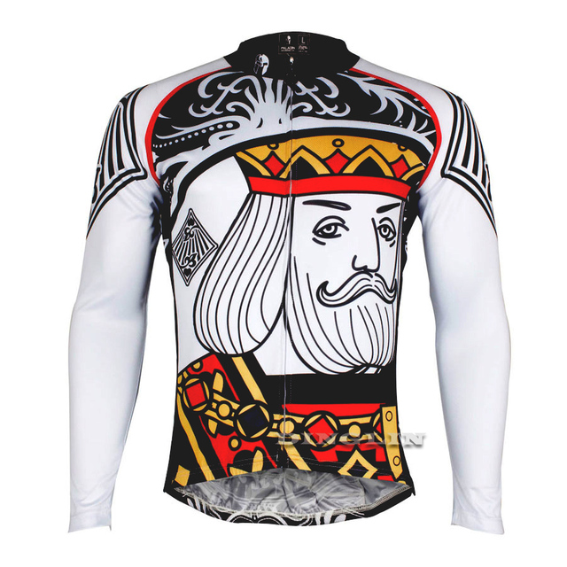06efbe862a8 GZDL Winter Men s Cycling Racing Jersey Tops King Print Long Sleeve Bike  Bicycle Bicicleta Sportswear Ropa Ciclismo MTB9402