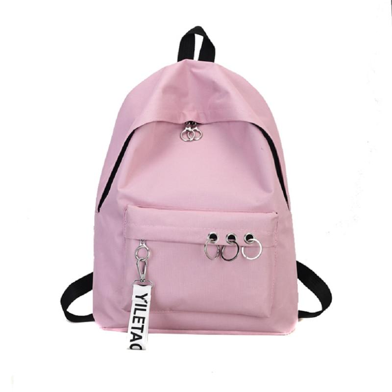 Korean Style Women Fashion Woman Canvas Material School Bag Girl Cute Backpack Travel Rucksack Shoulder Bags High Quality