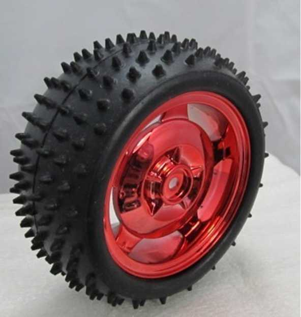 85MM Large Robot Smart Car Wheel For  Robot Car 38MM Width Surface Red