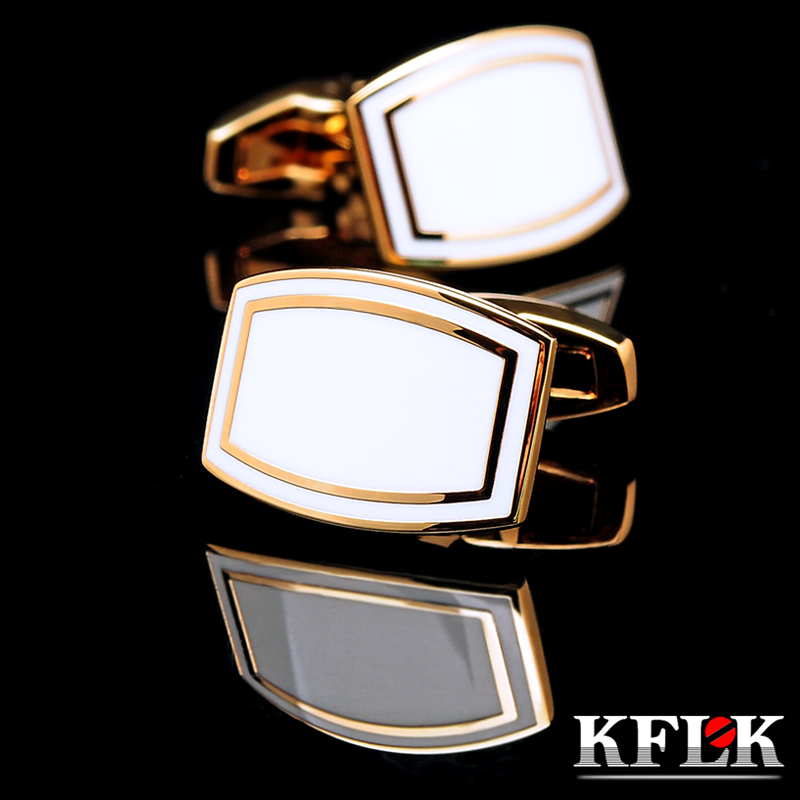 KFLK Jewelry French Shirt Cufflink For Mens Brand Cuff Link Button High Quality Gold-color Luxury Wedding Groom Free Shipping