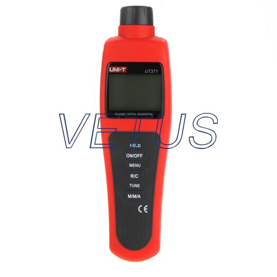 UNI-T UT371 digital Non-Contact Tachometer with RPM measuring range 10 RPM - 99999 RPM uni t ut372 non contact laser tachometer with measuring range 10 to 99 999 rpm