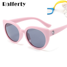 5e5f29074df Ralferty 2018 Flexible Kids Sunglasses Polarized Girls Cat Eye Sun Glasses  UV400 Child Sunglass Eyewear Silicone Eyeglass K1876