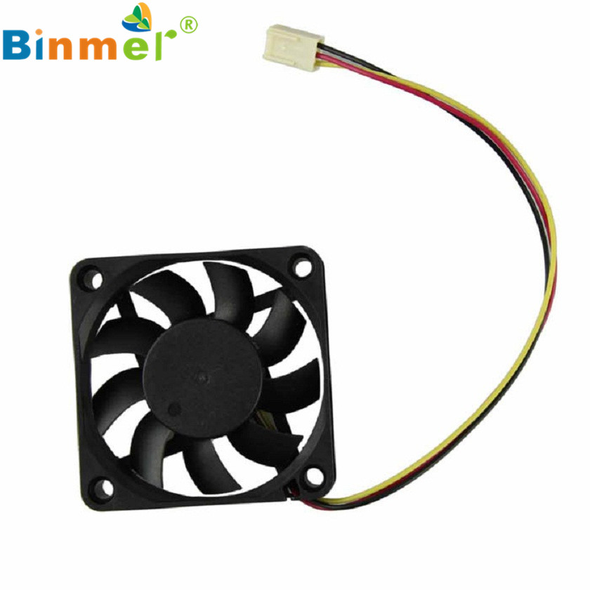 Adroit 60mm PC CPU Cooling Fan 12v 3 Pin Computer Case Cooler Quiet Connector MAR26 2200rpm cpu quiet fan cooler cooling heatsink for intel lga775 1155 amd am2 3 l059 new hot