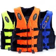 Profesional Chaleco Salvavidas Para Los Niños y Las Mujeres y Los Hombres de Pesca Chalecos Chaquetas de Deportes Acuáticos con Silbato de Seguridad