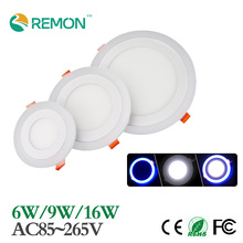 Newest LED Panel Light 3 Models Changable LED Recessed Downlights 6w 9w 16w Round Ceiling Splot Lamp Indoor Lighting Fixture