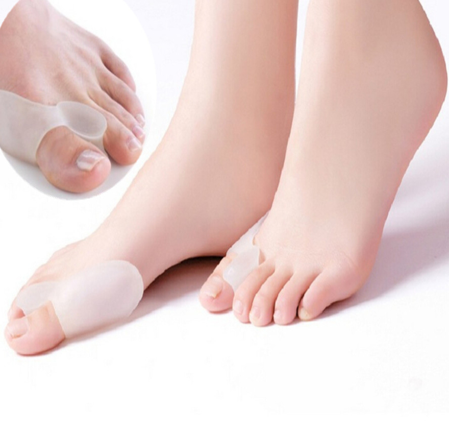 2Pcs Soft Beetle-crusher Bone Ectropion Toes Outer Appliance Silica Gel Toes Separator Feet Care Massage Products Without Box BO