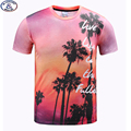 Mr.1991 brand printed Palm tree 3D t-shirt for boys and girls New 2017 summer style teens t shirt big kids 11-20years tops A38