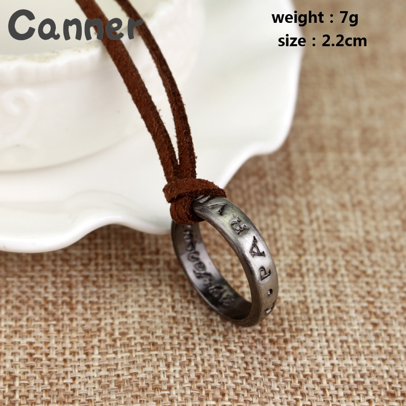 Canner Vintage Leather Chain Necklaces For Men Long Necklace Pendant Jewelry Cord Chain Game Letter Necklaces Statement Gifts A4 in Pendant Necklaces from Jewelry Accessories