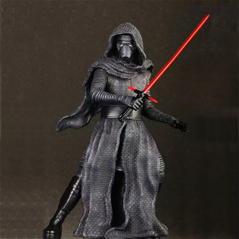 WVW 24CM Movie Star Master Yoda Darth Vader DV Kylo Ren Play Arts Model PVC Toy Action Figure Decoration For Collection Gift wvw 18cm hot sale movie hero spider man venom play arts model pvc toy action figure decoration for collection gift
