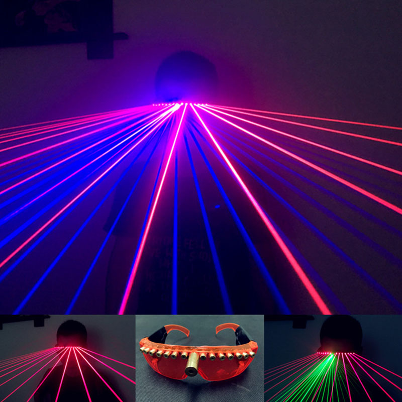 Laser DJ flash eyeglasses KTV glasses for stage party nightclub show 40 beam red blue disco light wedding performance lighting