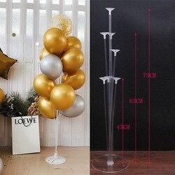 1 Набор «С Днем Рождения» воздушный шар дисплей стенд шар День рождения Свадьба вечеринка украшение шар рамка конфетти шар стенд