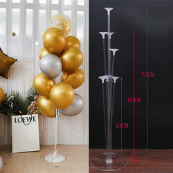 1 set happy birthday balloon display stand balloon birthday wedding party party decoration balloon frame confetti balloon stand