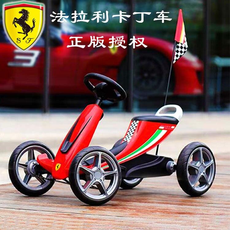 Ferrari enfants garçon fille 3-6 ans Go-kart peut s'asseoir quatre roues vélo F1 course véhicule enfants vélo Bmx nouveau véritable Sepeda