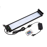 40/60/80cm 36LED Aquarium Fish Tank Light Bulb Lamp Bracket RGB Remote