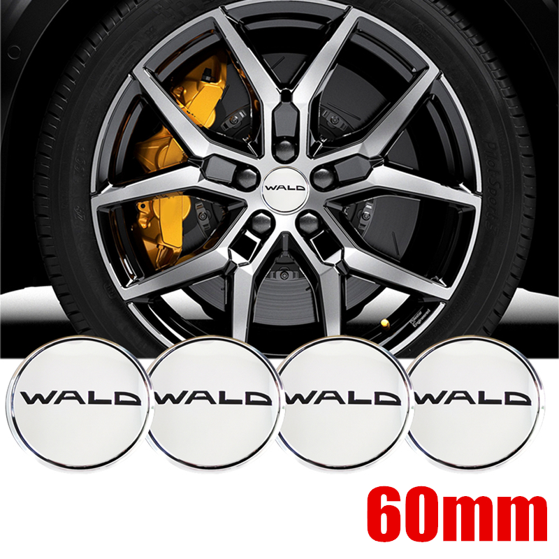4 Pcs WALD 60mm Chrome Wheel Center Decal Alloy Rim Badge Sticker For Audi A5 A6 A7 Car Styling