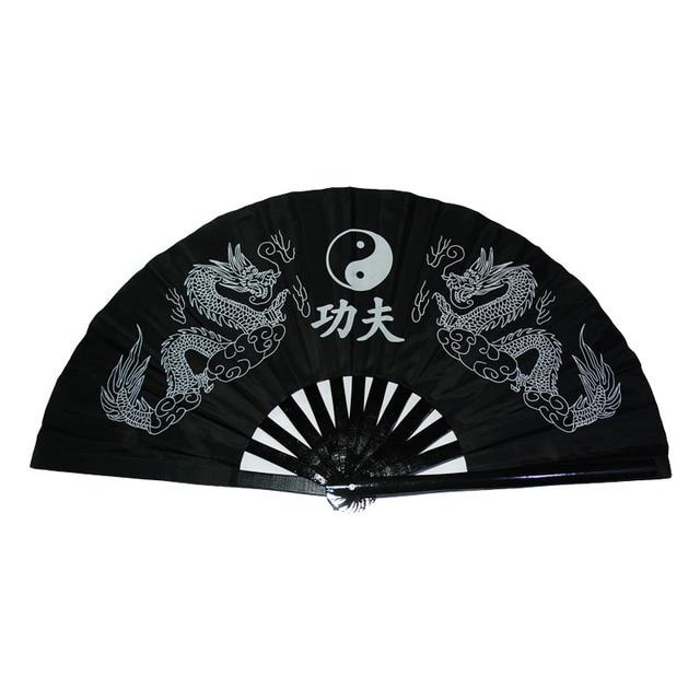Черный, красный для взрослых и детей Для мужчин Для женщин Пластиковые бамбука тайцзи/Taichi вентилятор кунг-фу кольцо производительность вентилятора Танцы вентилятор
