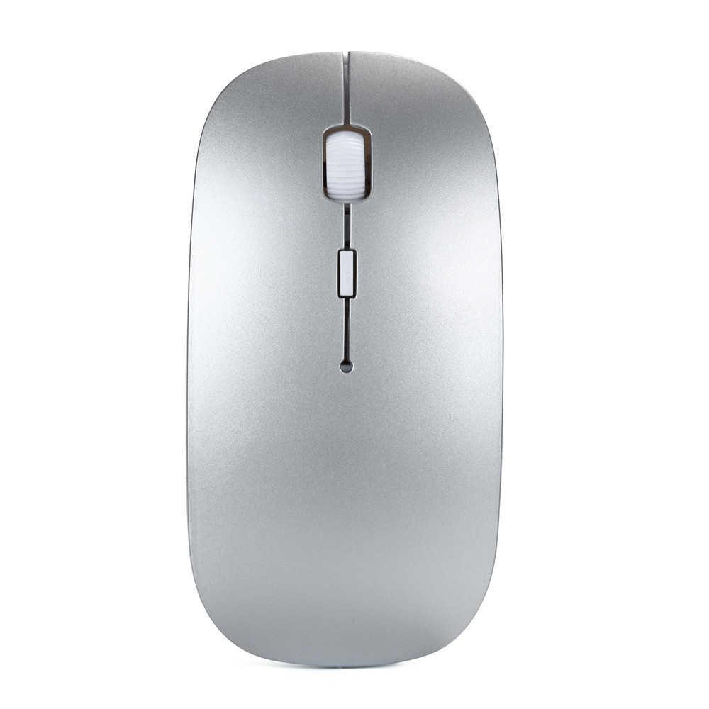Bezprzewodowa mysz optyczna Mousnx 2.4 GHz ultra-cienka mysz biurowa + odbiornik ergonomiczna konstrukcja bezprzewodowa mysz z baterią do laptopa