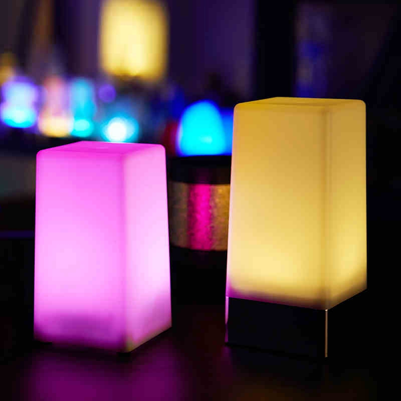Online Shop Led Charging Bar Lamp Creative Restaurant Cafe Mobile - Restaurant table candles