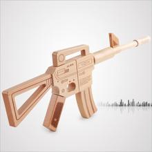 ФОТО heyfon  assembly wooden toy gun rifle-classic toy-durable-fun-wonderful civil war-pretend play toy gun for boys & girls.