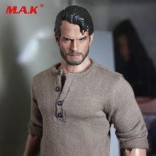1/6 scale Henry Carver superman man of steel with beard hair for 12 inches male bodies figures(China)