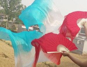 Image 3 - ขายส่งHand Made Belly Danceบูชาผ้าไหมเต้นรำไม้ไผ่ยาวแฟนGradientแนวนอนแนวตั้ง 120/150 จัดส่งฟรี