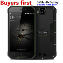 Blackview BV4000 IP68 Waterproof Mobile Phone 8MP Dual Cameras 4.7″ HD IPS RAM 1GB ROM 8GB Quad Core 3680mAh Dustptoof Smatphone
