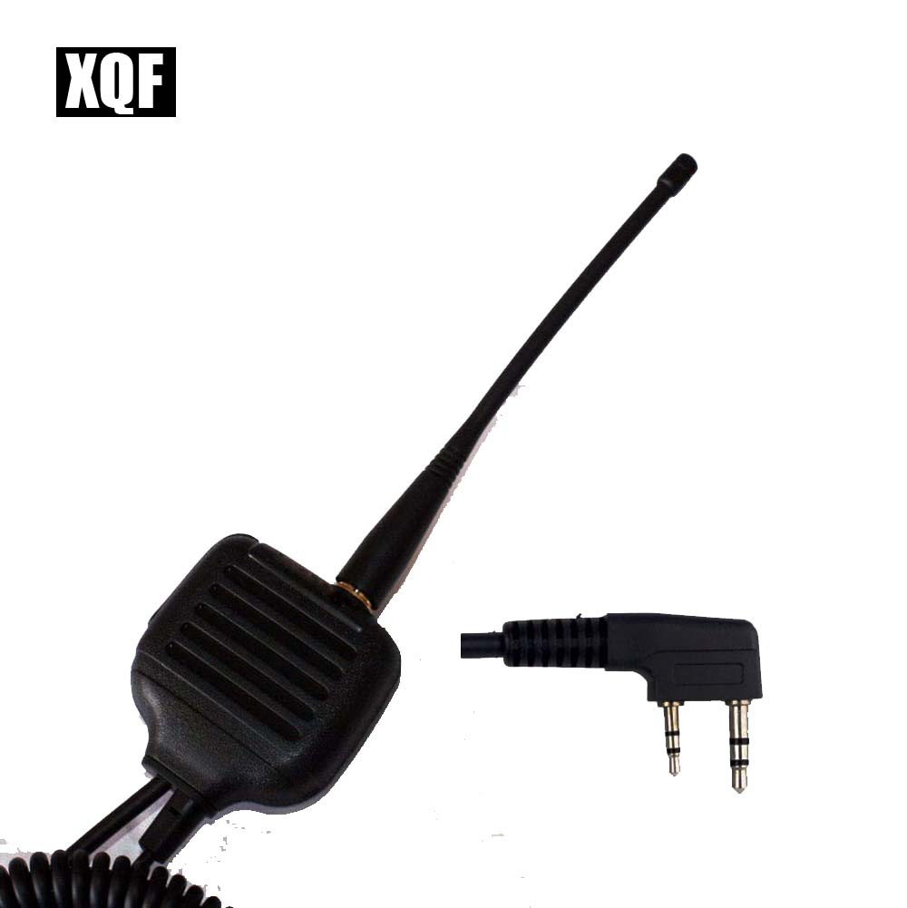 XQF BAOFENG Speaker Microphone For Ham Two Way Radio Walkie Talkie UV5R GT3 888s With Antenna