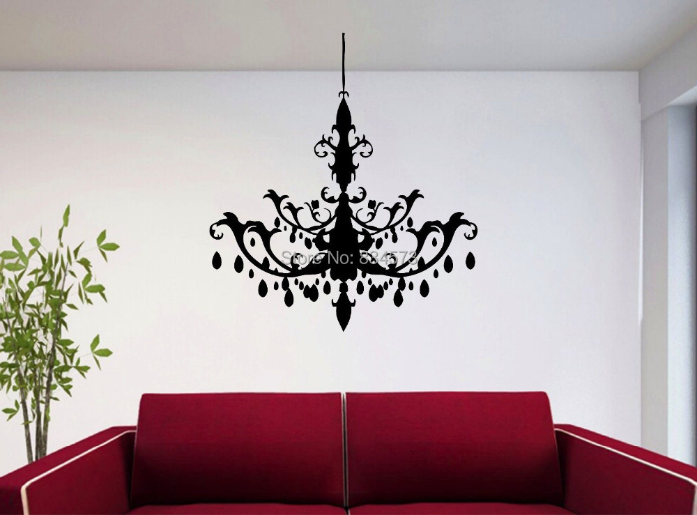 Por Chandelier Wall Decals Lighting Ideas