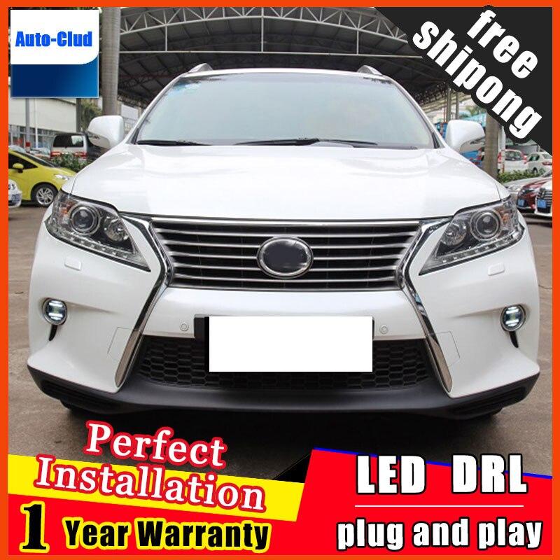 Автомобиль-стайлинг из светодиодов Противотуманные фары для Lexus ES300h 2012 - 2014 светодиодные Противотуманные фары, с линзой и LED дневные ходовые светодиодные функция ДХО 2