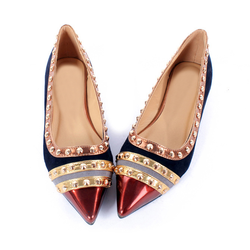 Rivets Decoration Brand Shoes Flats Women Spring Autumn Fashion Womens  Flats Boat Shoes Sexy Ladies Plus Size 11 Free Shipping-in Women s Flats  from Shoes ... eebe42606008