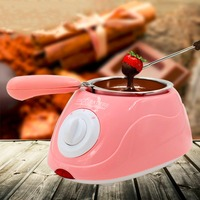 Durable Stainless Steel&Plastic Hot Chocolate Melting Pot Electric Fondue Melter Machine Set DIY Tool EU Plug