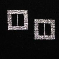 Rhinestone Buckle Embellishment For Garments, Wedding invitation buckle rhinestone Buttons 20pcs/lot