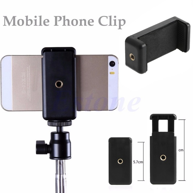 Universal Tripod Monopod Stand Mount Selfie Clip Bracket Holder For iPhone 6 HTC 1