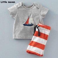 Little Maven Brand Children Clothing 2017 New Summer Baby Boy Clothes Sailing Boat Children S Cotton