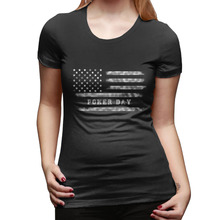 US American Flag Shirt with Poker Day Casino Women tshirt Casual Funny t shirt For Lady Hipster Femme Woman Clothing