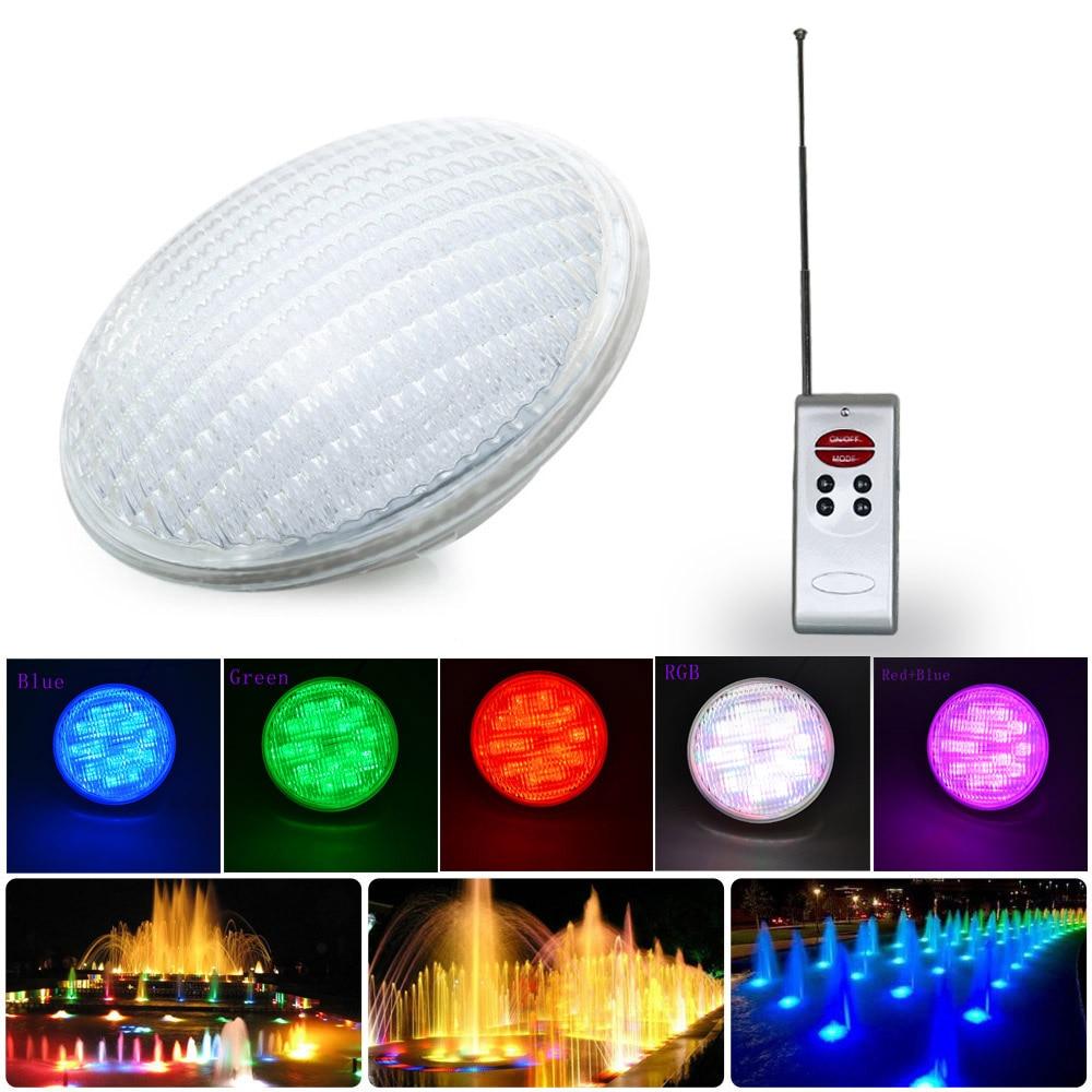 4 pcs/lot DC12V 18 Watts RGB PAR56 LED lumière sous-marine lumière de piscine, livraison gratuite