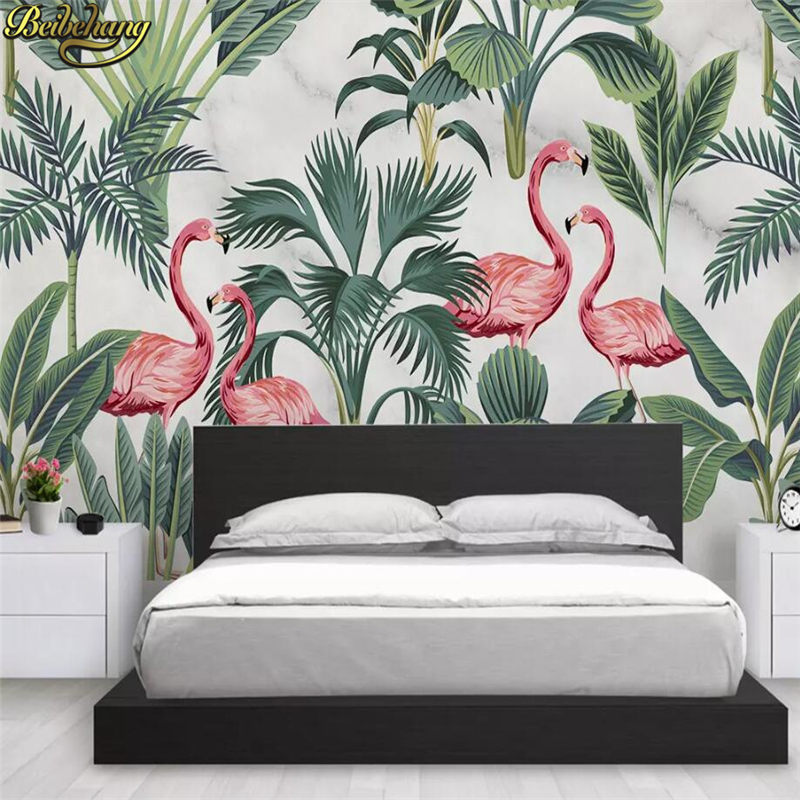 Beibehang Custom Nordic Simple Flamingo Tropical Leaves Mural Wallpaper Home Decor Landscape Wall Painting Photo Wall Paper Roll Wallpapers Aliexpress Itupun sebenarnya banyak yang ngga terekam. beibehang custom nordic simple flamingo tropical leaves mural wallpaper home decor landscape wall painting photo wall paper roll