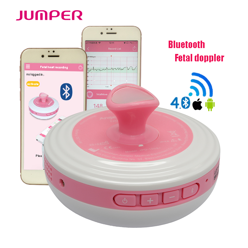 Baby Care Home use bluetooth Fetal Doppler Heartbeat Detector Angel sounds Green ultrasound dopplers monitor 2.0MHZ with music baby care urban lite зелёный green bc003