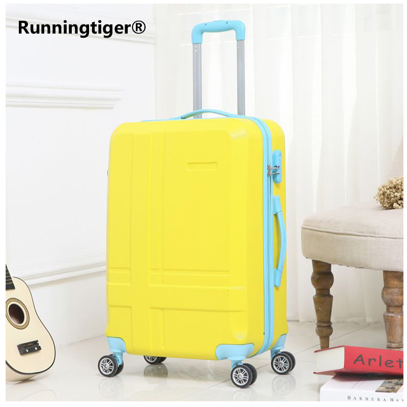 Rolling Luggage Spinner Wheels 24 inch Suitcase Trolley Men ABS+PC Travel bag Trunk Student Password box Women Carry On Luggage цена