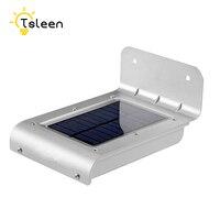 TSLEEN 16 LEDs Phố Năng Lượng Mặt Trời Đèn PIR Motion Sensor Ánh Sáng Mặt Trời Powered Đèn Cảm Biến IP65 Tường Ngoài Trời Đèn Pathway An Ninh ánh sáng