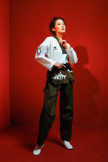 Nova flor fogo taekwondo uniforme adulto tae kwon do estrada homem e mulher de mangas compridas taekwondo costura doboks