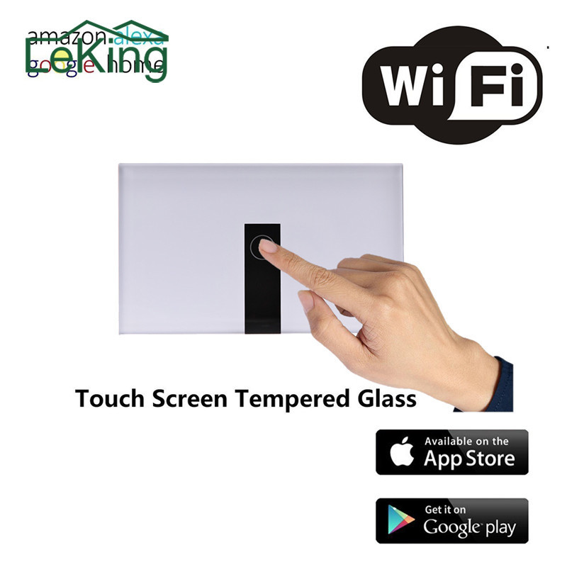 1-Way WIFI Smart Touch Switch Control via APP or Voice Control Light Switch Work With Alexa Home Control Light Switch Panel cybernetics or control