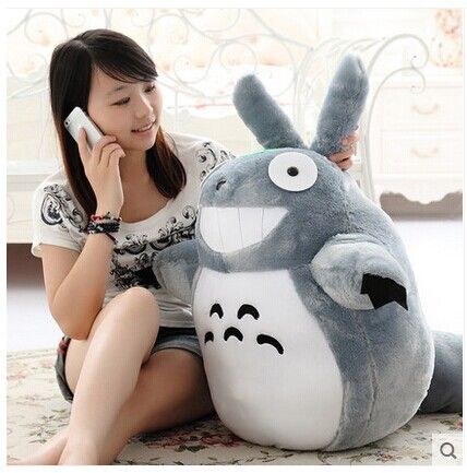 Grand jouet en peluche 90 cm Hayao Miyazaki Totoro, cadeau de jouet w2384